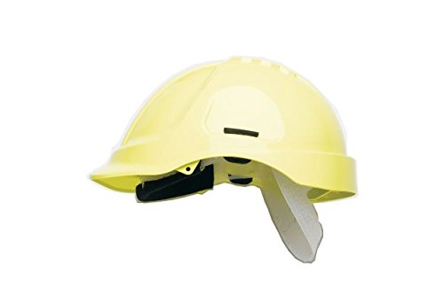 Scott Safety HC600/HY Helmet Unvented with Sweatband, High Visibility, Yellow