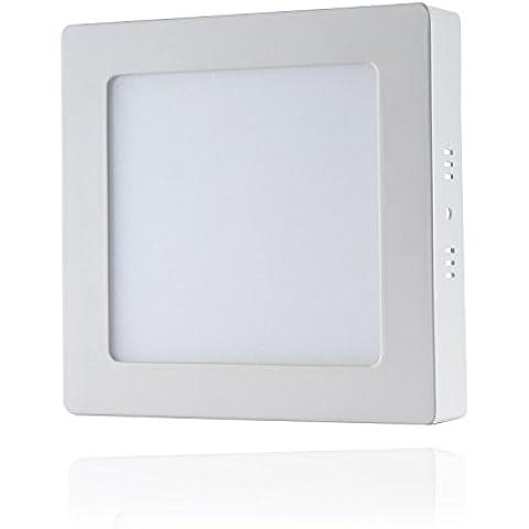 Liqoo® 18W El blanco fresco LED Lámpara Downlight incl Luz del proyector de techo. Transformador LED 6000K 2835 SMD, 1400Lumen reemplazado 100W instalación directa rectangular 38 x