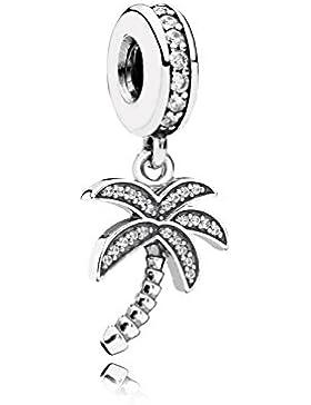 Pandora Damen-Bead Glitzernde Palme 925 Silber Zirkonia weiß - 791540CZ