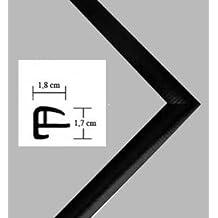 """Marco pl‡stico """"Rotterdam"""" 42x140cm, marco en estilo moderno 140x42cm, color seleccionado: negro mate con vidrio acr'lico protector antirreflector (1mm)"""