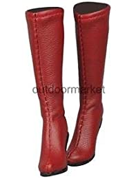 Alcoa Prime 1:6 Red Back Zippered Long Boots High Heels 12inch Female Figure Accessory