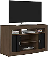 Artely Fiesta TV Table for 47 inch TV, Walnut Brown with Black, W 117 cm X D 40 cm X H 70.5 cm