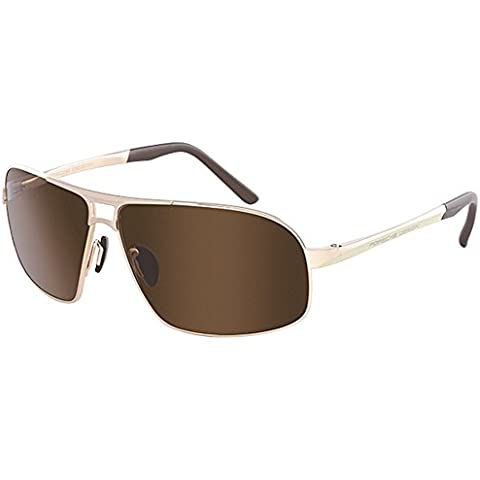 Porsche Design - P8542, Geométrico, titanio, hombre, GOLD/BROWN(B CR), 65/11/135