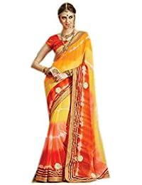 Mantra Fashions Women's Georgette Saree (Mant16_Multi)