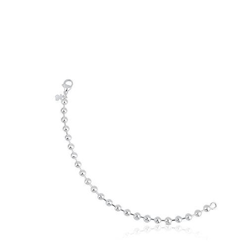 Imagen de pulsera tous bracelets en plata de primera ley. largo 18 cm. motifo 0,5 cm