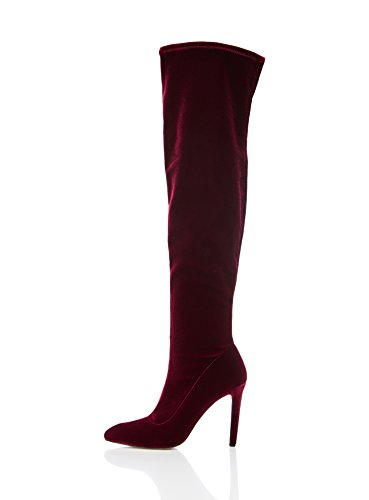 FIND Women's Knee-High Boots, red, 6 UK