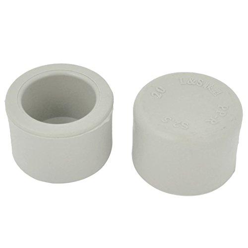 2 Stück Graue Plastikrohr-End-Kappen-Abdeckung für 20 mm Aussendurchmesser Rohre