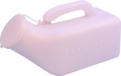 mâle Transparent Plastique Self Care Urinoir patient Flacon 1000 ml Lot de 6