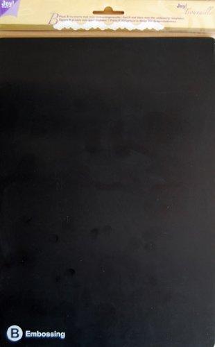 Joy!Crafts JOY! Trouvaille A4 Platte B, Embossingplatte B schwarz mit Embossingmatte schwarz