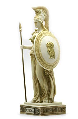 greekartshop Athena Minerva Griechisch römischen Göttin handbemalt Statue Skulptur Figur 24,5cm