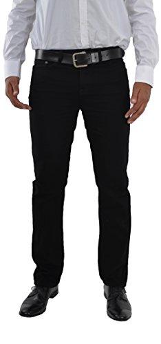 Herren Jeans Hose Straight Leg gerader Schnitt NEU Blue Petrol Jeanshose W30 bis W42 verfügbar (W34/L34, Schwarz / Black)