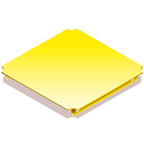 QUADRO Platte 40x40 cm gelb