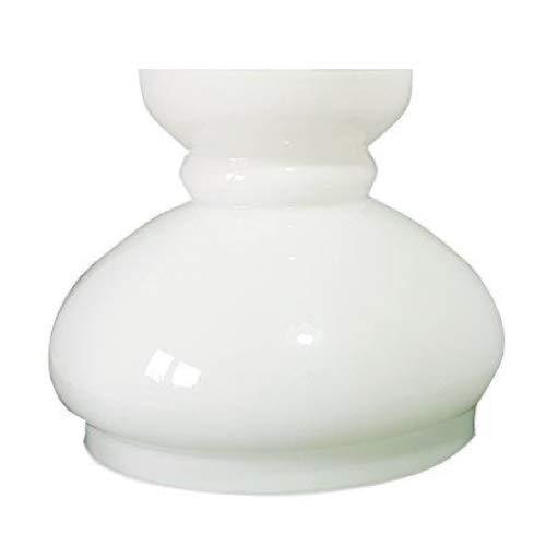 Glas Ersatz Öllampe Schornstein Haube Lampenschirm.  GROß WEIßE GLAS SCHORNSTEIN. Breite an der Basis: 19 cm Durchmesser, Höhe: 17.5 cm, Maximaler Durchmesser: 22 cm.