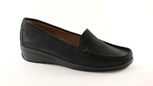 ENVAL SOFT 29961nero scarpe donna mocassini tubolari zeppetta Nero