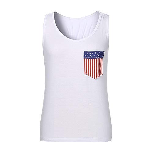 TYTUOO Damen Shirt Flag Style Bowknot Weste Lässige Bluse Einfarbig Tops