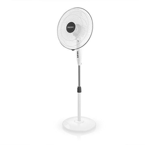 Messh SFZ 6000 - Ventilador de pie, 3 velocidades de ventilación, palas...