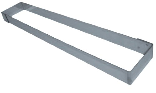 Matfer-mousse (Matfer Bourgeat 371017Mousse Rahmen, rechteckig silber)