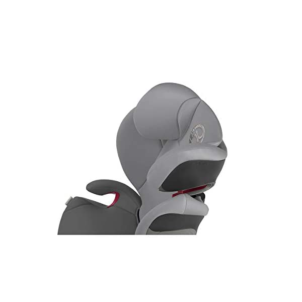 cybex Gold Pallas S-Fix Car Seat, Group 1/2/3, Manhattan Grey  Group 1/2/3 combination car seat. suitable from 9 - 36kg. designed to be used until a maximum height of 150cm, approximately 12 years. The optimized impact shield of the pallas s-fix reduces the risk of serious neck injuries without confining the child. shield suitable until 18kg. The integrated lisp. system offers increased safety in the event of a side-impact collision by reducing the forces by approximately 25%. 9