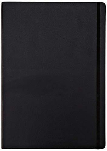 Idena 209280 Notizbuch FSC-Mix, A4, kariert, Papier cremefarben, 96 Blatt, 80 g/m², Hardcover in schwarz, 1 Stück