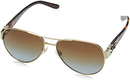 Ralph Lauren Damen RL7047Q Sonnenbrille, Shiny Gold 9116T5), One size (Herstellergröße: 58)