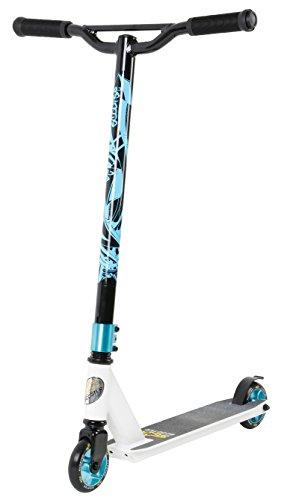 Star-Scooter® Premium Freestyle Stuntscooter Monopattino Eccezionale Prezzo-Prestazioni ★ Edizione 100mm Evoluto Accesso ★ Bianco (Opaco) & Azzurro Blu