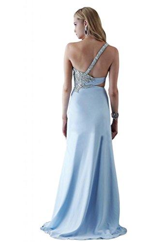 Toscana sposa general-case un-spalla kraftool Chiffon stanotte vestimento per damigella Party Ball Bete vestimento Hell Himmel Blau