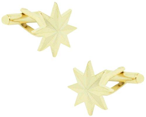Masgemelos - Boutons de manchette étoile militaire 8 embouts Cufflinks