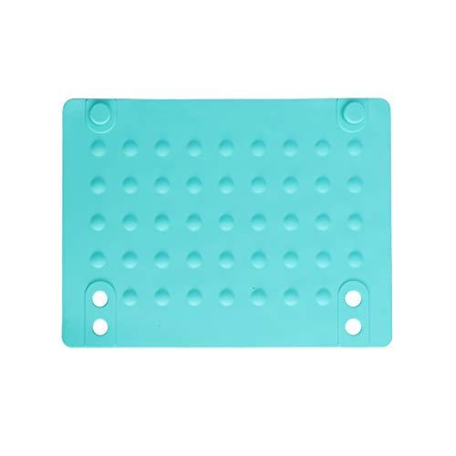 Lurrose - Alfombrilla aislante de silicona resistente al calor, almohadilla aislante antideslizante para alisador de pelo (azul)
