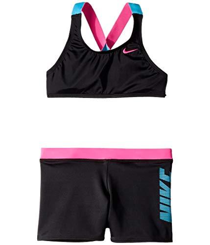 Nike Kids Girl's Rift Prism Cross-Back Bikini and Shorts (Little Kids/Big Kids)