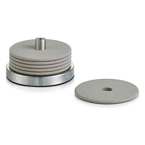 zeller-coasters-set-stainless-steel-grey-10-x-6-cm-7-piece