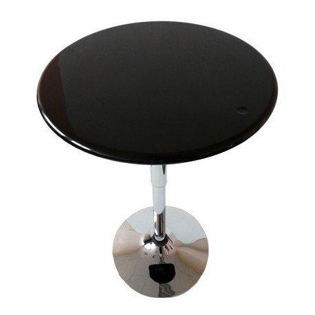 Table-de-Bar-City-reglable-en-hauteur-noire-chromee