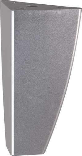 Gedotec® Meuble Pied Réglable Socle Pied de Table Panini |Plastique Argent| Capacité 100 kg | Hauteur 125 mm | Marque