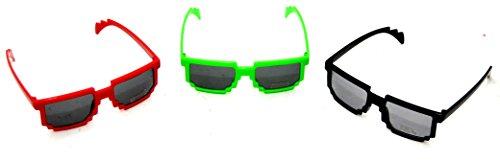 3 X PIXEL Brille for Kids 8 Bit Sonnenbrille Wayfarer pixelbrille by schenkfix