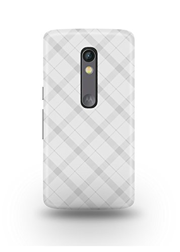 Moto X Play Cover,Moto X Play Case,Moto X Play Back Cover,White Plaid Moto X Play Mobile Cover By The Shopmetro-12215
