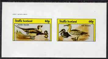 Staffa 1982 Water Birds #05 (Long-tailed Duck & Gannet) imperf set of 2 values u/m BIRDS DUCKS JandRStamps - Long-tailed Duck