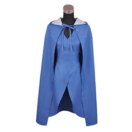 Kostüm Drachen Khaleesi - QWEASZER Daenerys Targaryen Khaleesi Dothraki Kostüme Game of Thrones Blaue Damen Drachen Halloween Outfit Cosplay Halloween Eis und Feuer Erwachsene,Blue-XL