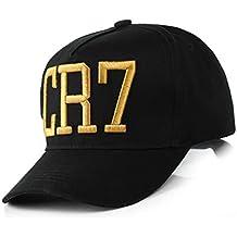 Unisex CR7 impresión de la letra Footbal sombrero de béisbol del Snapback de fútbol informal Visera