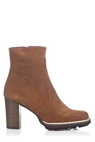 Laura Moretti - Bootie With Platform Sole And Heel, Stivali Donna Tabacco