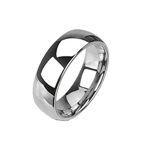 Coolbodyart anello da donna Anello da uomo anello in tungsteno-Tungsteno, in argento Classic Line-Anello-anello matrimonio collezione, 8 mm, 66 (21.0), cod. CBAR-TU-020-8_12 - Collezione Tribal