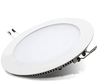 18W LED Round Recessed Ceiling Flat Panel Down Light Ultra slim Lamp Warm White 3500K Super Bright by Long Life Lamp Company