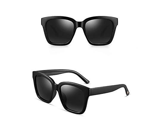GJMB Vintage Polarized Womens Sonnenbrille zum Fahren UV 400 Schutz Sonnenbrille Acetate Frame-Black