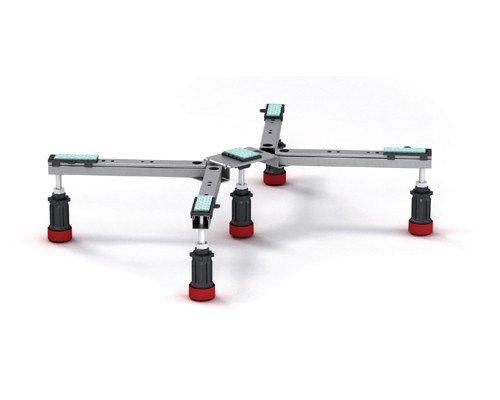 Preisvergleich Produktbild Mepa Duschwannenfuß Wannenfuß Füße Stahl + Acryl Typ BW-5 Maxi 150 130