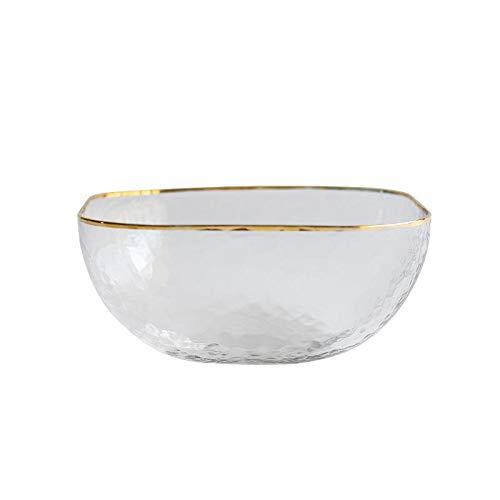Kschen Glas Gelb Edge Bowl Salat Suppenschüssel Square Dessert Bowl 11Cm
