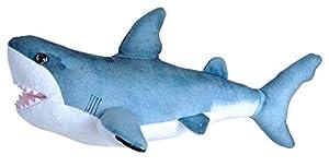 Wild Republic- Living Ocean Mini Peluche tiburón Blanco, Juguete Relleno, 40 cm, (23414)