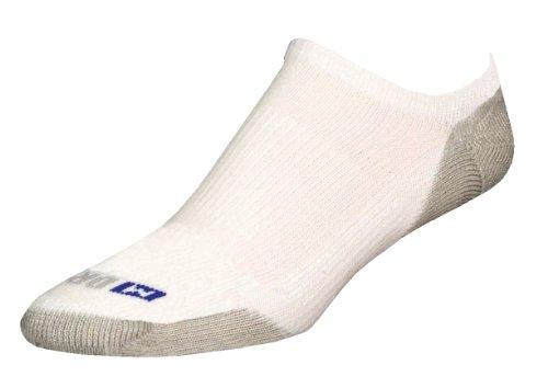 Drymax Run No Show Socken, Herren Damen Jungen Mädchen, weiß/grau, X-Large -