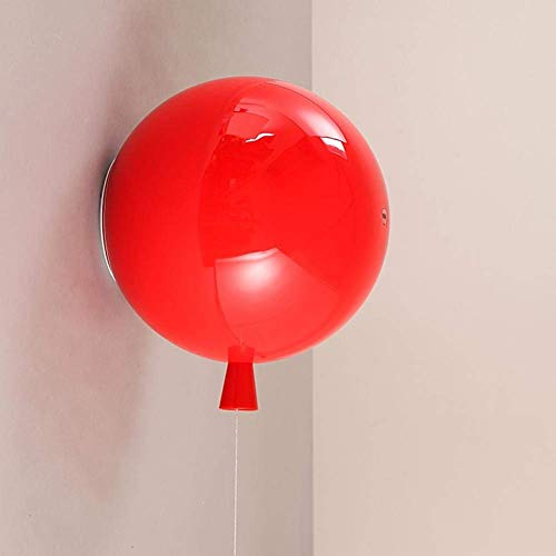 Farb Ballon-Deckenbefestigung, moderne Kinderzimmer-Overhead-Lampe, LED-Leuchte, Bettlampe, Flur-Küchen Beleuchtung ø20cm5 Farbvarianten, Beleuchtungen für Wände-rot Overhead-lampe