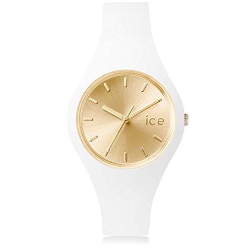 Ice Watch Chic Orologio da Polso, Quadrante Analogico da Donna, Cinturino in Silicone, Bianco