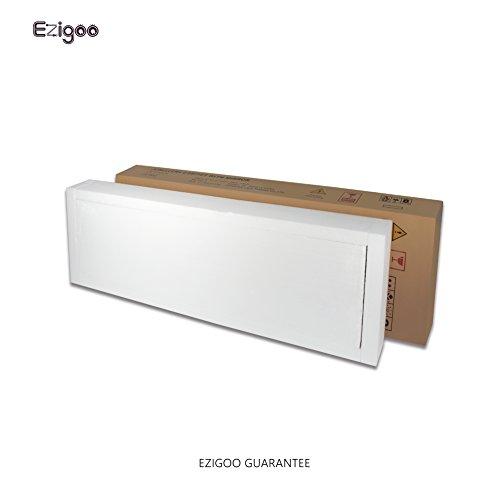 Ezigoo Schmuckschrank Spiegel Türgestell / Spiegel Schmuckschrank hängend mit LED Lichtleiste 110 x 31,5 x 8,5 cm - 9