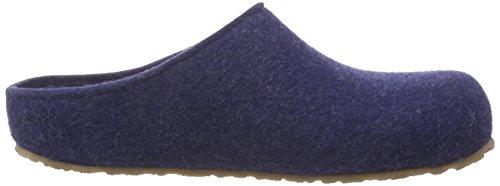Haflinger Michel, Chaussons mixte adulte Bleu (72 Jeans)