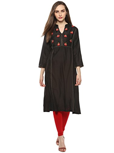 Bhama Couture Black Kurtas for Women(BCC024)
